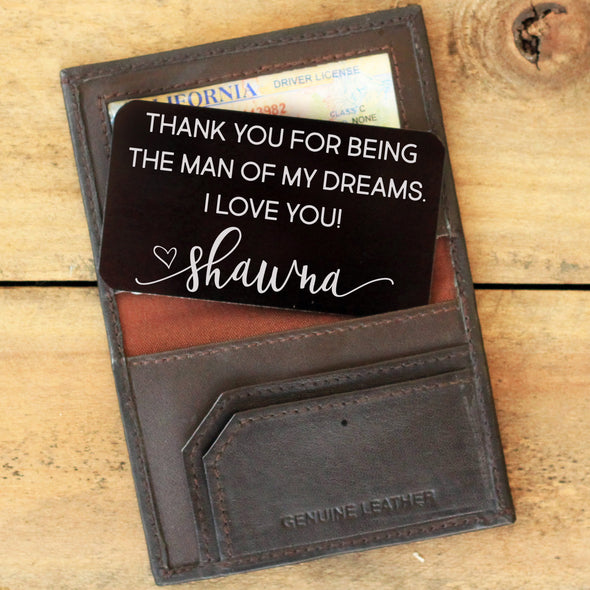 Wallet Note Insert - Man Of My Dreams