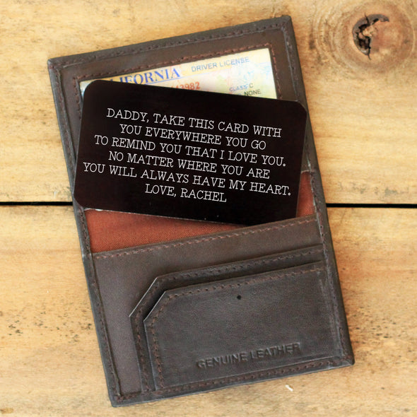 Wallet Note Insert - Daddy Take This Card With You