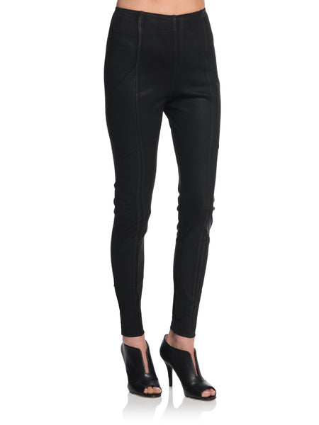 ASHER Wax Coated Basic Leggings w/ Pockets