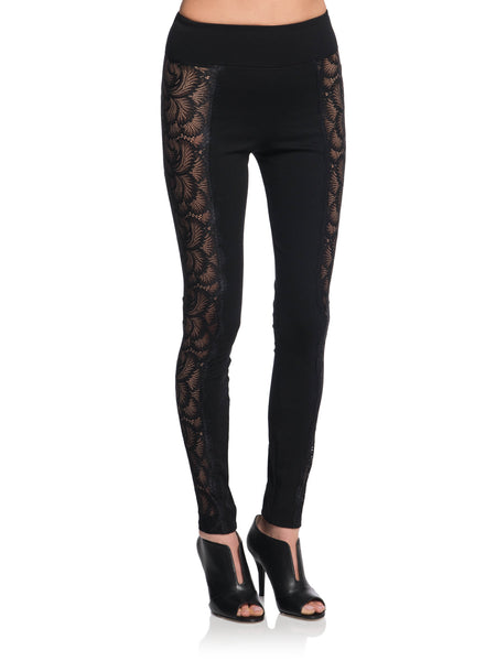 NAPHTALI Lace Side Leggings