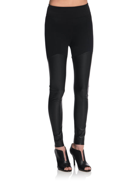 SIMEON Thigh-High Leather Leggings