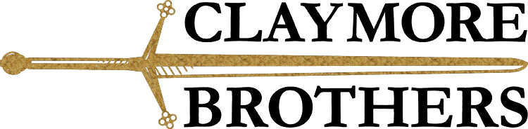 claymore brothers logo - custom tailored suits online.
