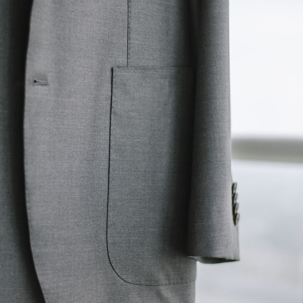 custom suit pocket style example image