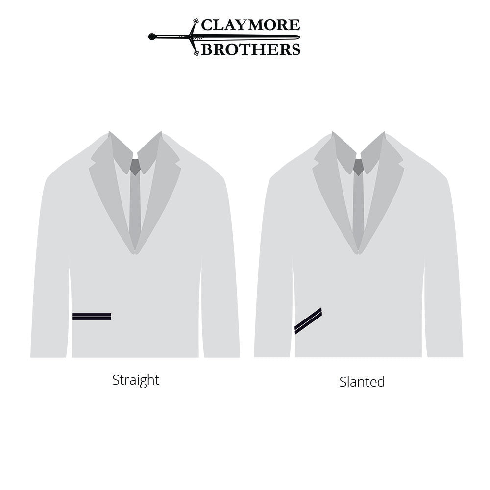 Information to help shopping online for suit pocket angle styles