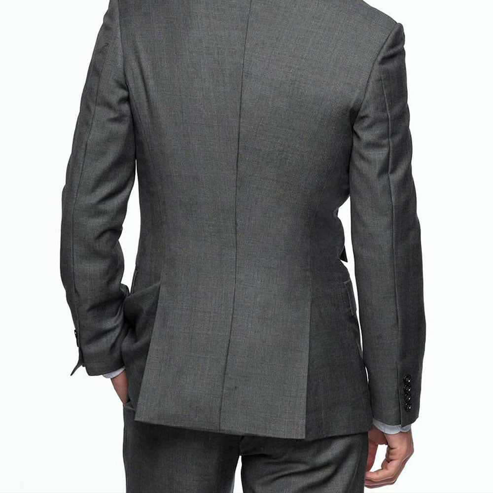 Rear custom suit jacket vent options example image