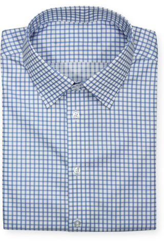 BLUE BORDERED GINGHAM