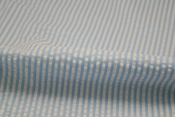 Seersucker Light Blue Stripes Suit