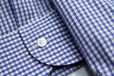 ROYAL BLUE BORDERED MINI GINGHAM