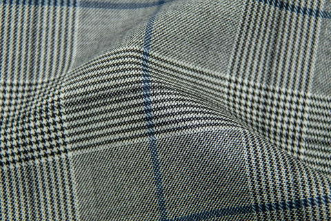 Endeavour Synergy LIGHT GREY PLAID WITH NAVY & BLACK OC