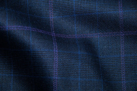 Endeavour Synergy NAVY PLAID WITH LT PURPLE PANE AND BLUE CHECK