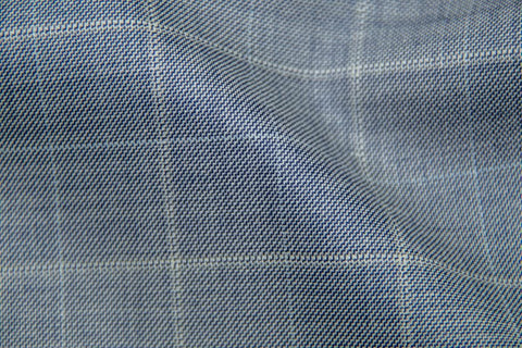 Endeavour Synergy SOFT BLUE PLAID WITH WHITE PANE AND WHITE CHECK