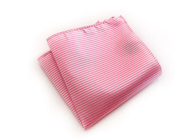 Pink Stripe Pocket Square