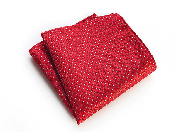 Red Weave Pocket Square