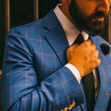 Triumph French Blue Gold Overcheck Suit