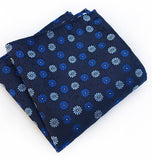 Blue Mini Floral Pocket Square