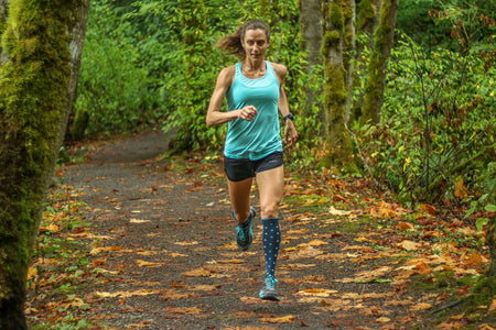 running with lily trotter compression socks