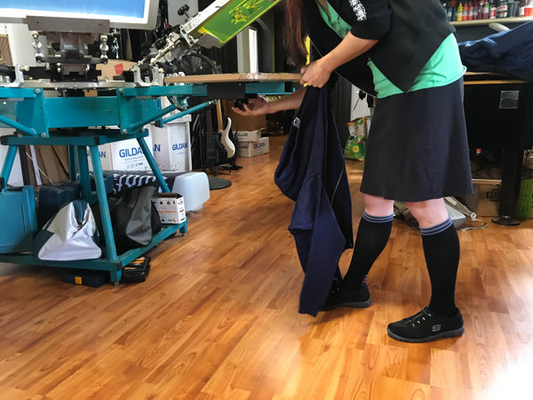 Working with Lily Trotters: Meet a Screen Printer Who Swears by Her Compression Socks