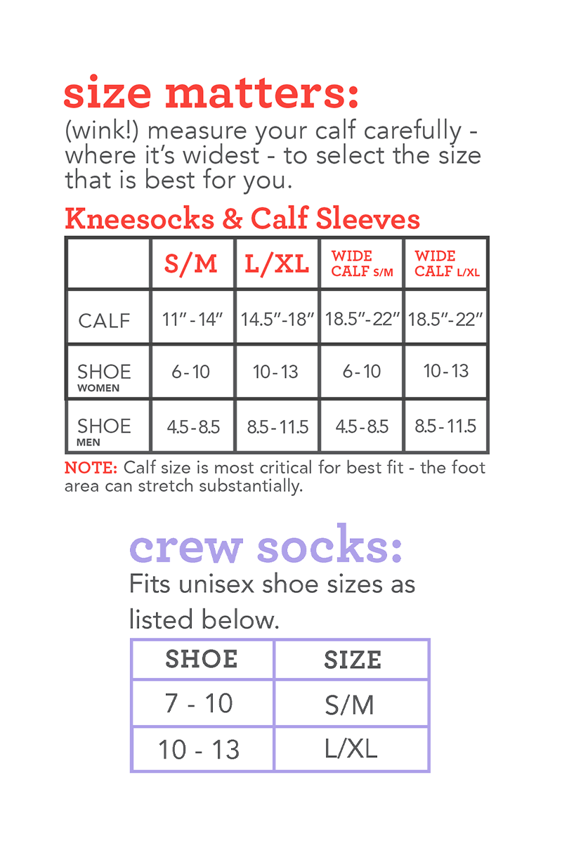Lily Trotters Size Chart 450px