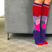 Red, purple and pink hearts Valentine's Compression Socks - super cute!