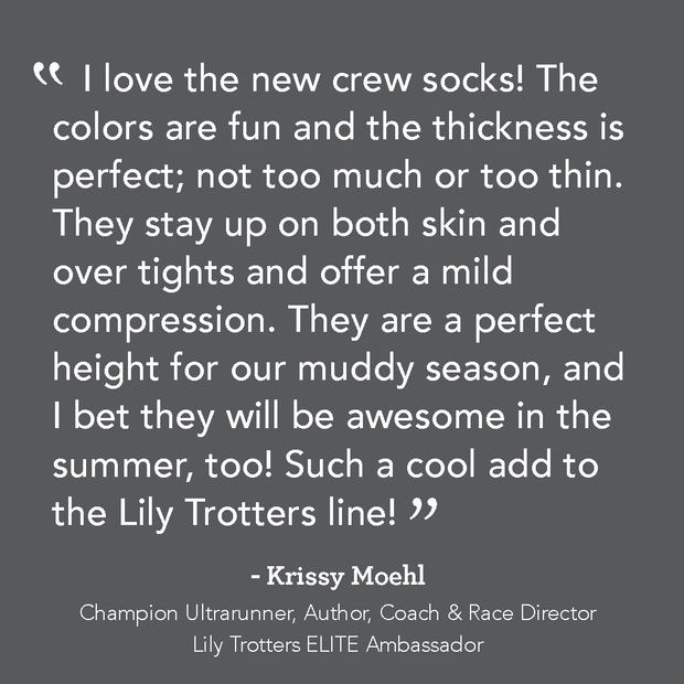 Testimonial for Lily Trotters Compression Crew Socks