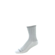Performance compression crew socks in heather gray herringbone