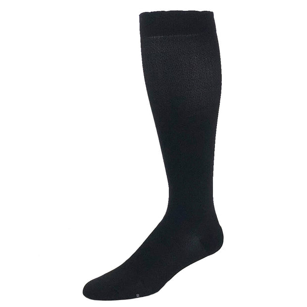 Solid black designer performance compression sock