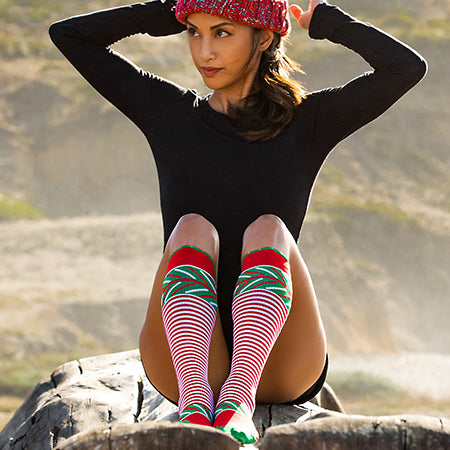 Cutest Christmas Compression Socks for Running and Travel