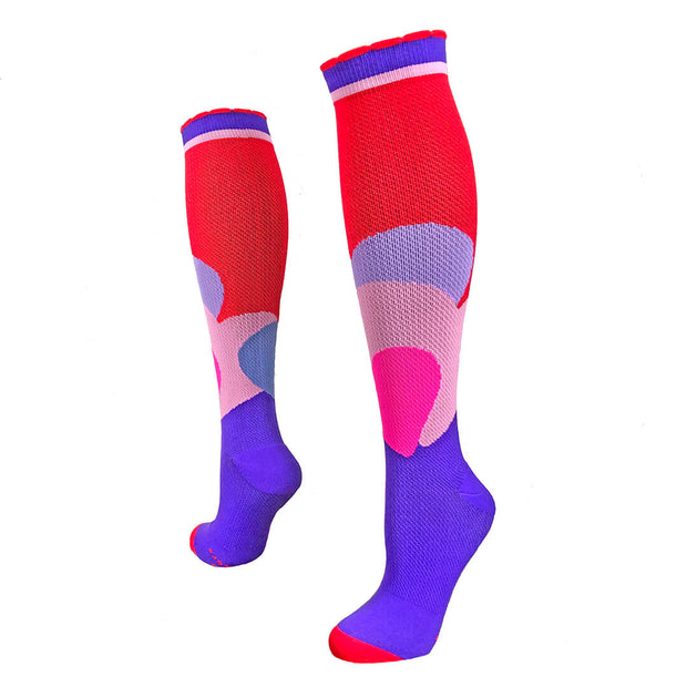 Red, purple and pink hearts Valentine's Compression Socks