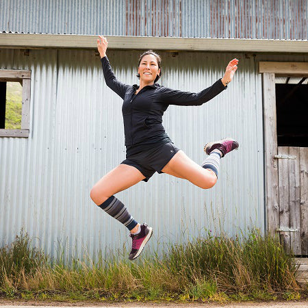 Compression calf sleeves by Lily Trotters will have you jumping higher!