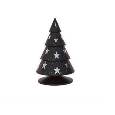 Happy®XmasTrees With SILVER stars 18 cm
