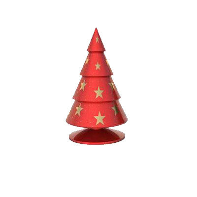 Happy®XmasTrees With GOLD stars 18 cm