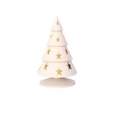 Happy®XmasTrees White GOLD stars 18 cm