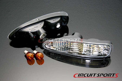 Circuit Sports Clear Front Turn Signal Lights Set for 91-94 Nissan 180SX S13