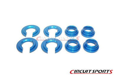 Circuit Sports Aluminum Subframe Spacers for 1989-98 Nissan 240SX set of 8