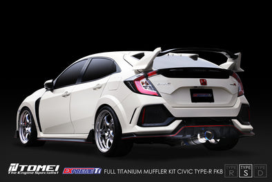 Tomei Expreme Titanium Exhaust System Type-S for 2017+ Honda Civic Type R FK8