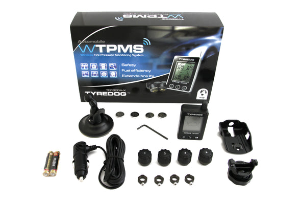 Tyredog TPMS Wireless External Tire Pressure / Temperature Monitor  - TD-1300A-X