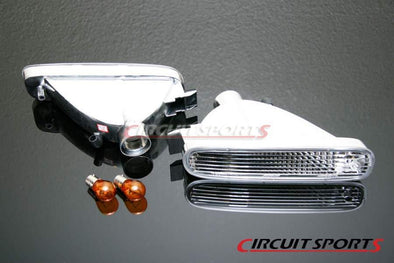 Circuit Sports Clear Front Turn Signal Lights Set for 95-96 Nissan S14 Zenki JDM