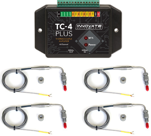 Innovate Motorsports TC-4 PLUS 4-Channel EGT Kit  incl. 4 EGT Probe Type K