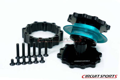 Circuit Sports Steering Wheel Quick Release Kit V3 - 47mm - Teal/Black