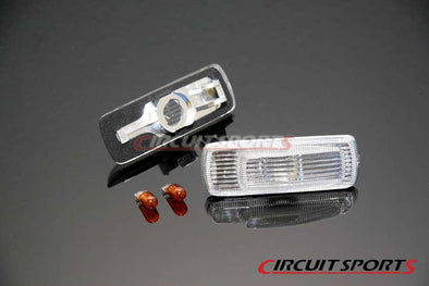 Circuit Sports Clear Side Markers set for Nissan 180SX / S13