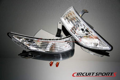 Circuit Sports Clear Front Corner lights set for 89-94 Nissan S13 Silvia JDM