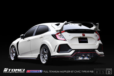 Tomei Expreme Titanium Exhaust System Type-D for 2017+ Honda Civic Type R FK8