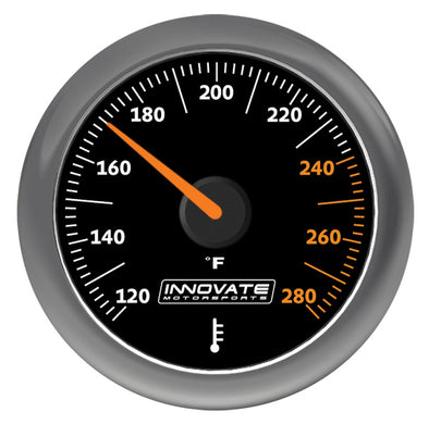 Innovate Motorsports MTX-A Analog Oil or Water Fluid Temperature Gauge