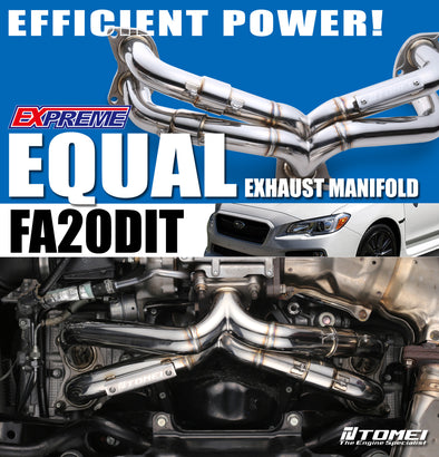 Tomei Expreme Exhaust Manifold Equal Length For 2015+ Subaru WRX FA20DIT