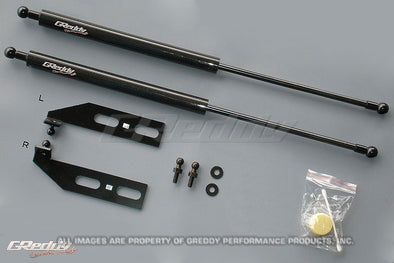 Greddy Carbon Hood Damper Kit for 1993-96 Mazda RX7 FD3S