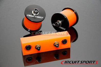 Circuit Sports Solid PU Motor and Tranny Mounts Set for Nissan S13 S14 KA24 SR20