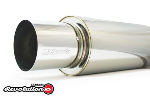 "Greddy Universal 2.5"" Revolution RS Muffler 140mm with Removable Tip 105mm"