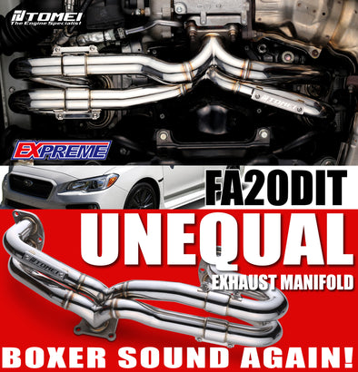 Tomei Expreme Exhaust Manifold Unequal Length For 2015+ Subaru WRX FA20DIT