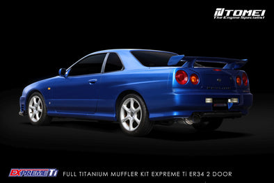 Tomei Expreme Titanium Exhaust System for Nissan Skyline ER34 25GT Turbo 2 door