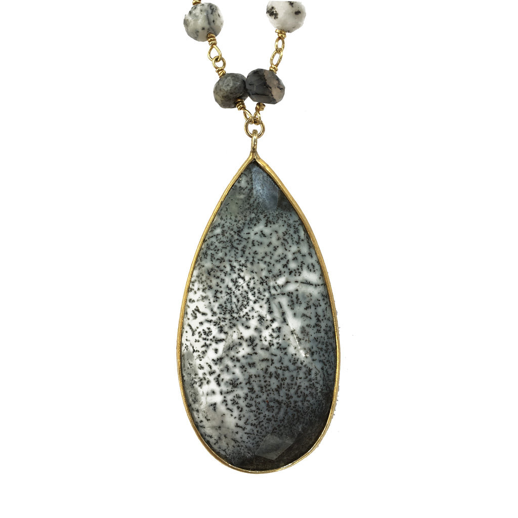 Dendrite Opal Double Necklace, Necklaces - Luna Lili Jewelry